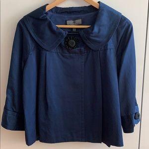 Elegant Blue Jacket with Beautiful Detailing